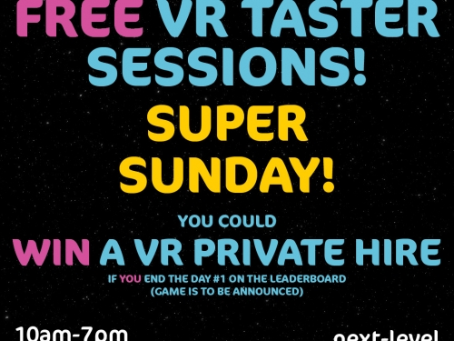 FREE TASTER SESSIONS! - SUPER SUNDAY 09.02.2020